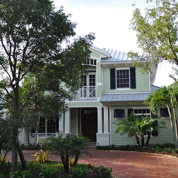 Residential Metal Roof on Green House | Atlantis Roofing of Naples, Inc.