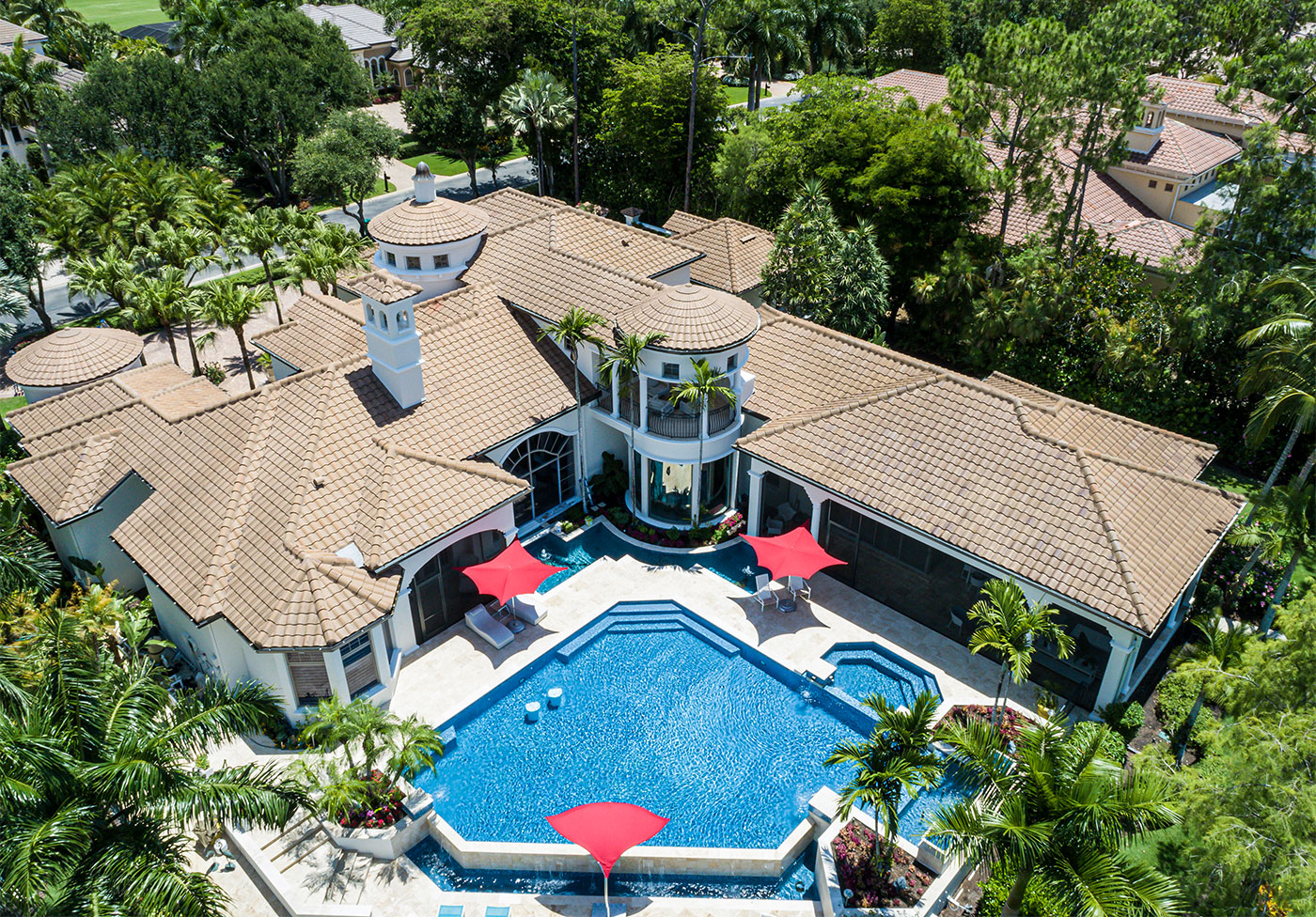 Aerial of Tile Roof | Atlantis Roofing of Naples, Inc.