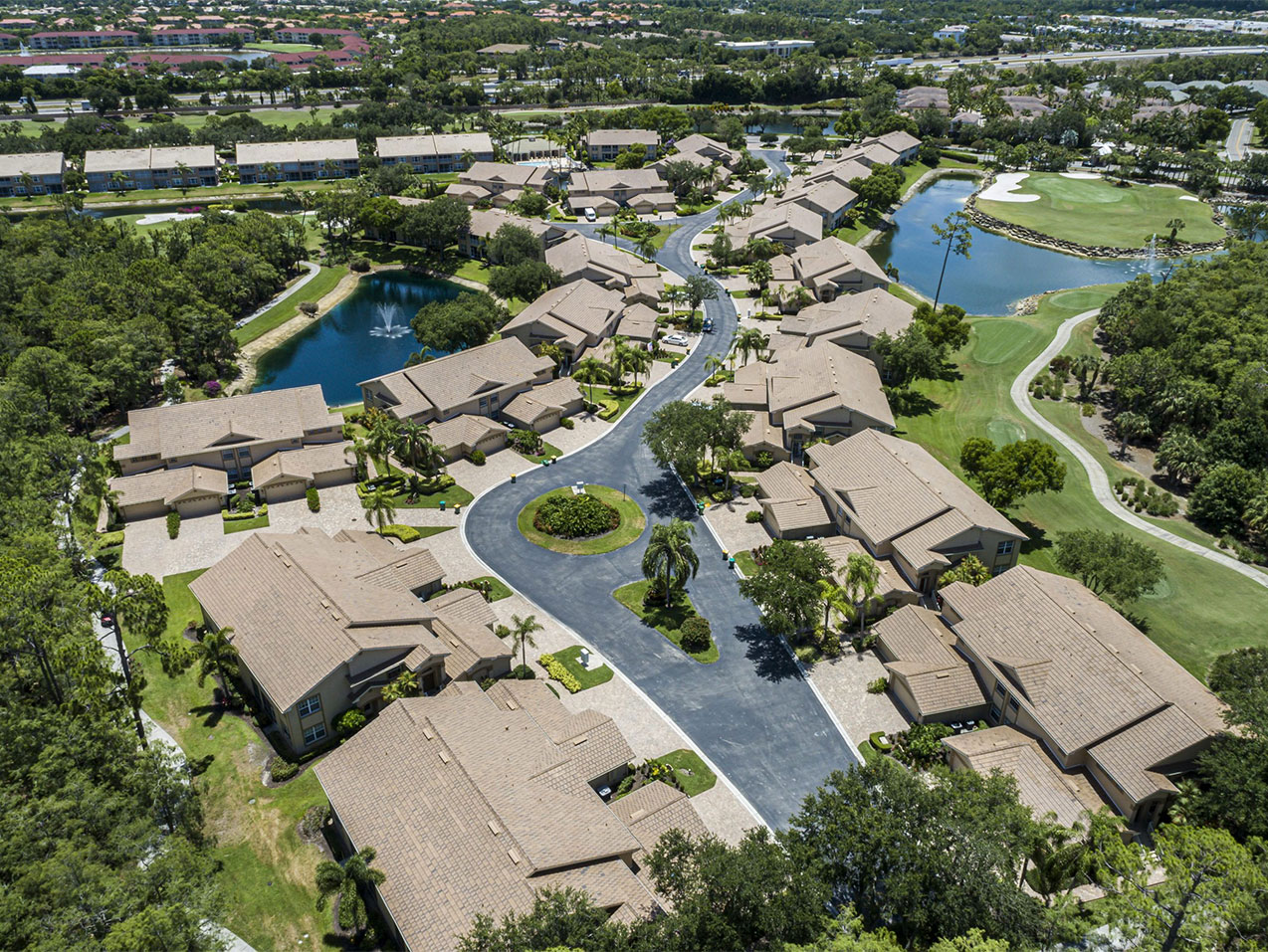 Aerial of Community Roofing | Atlantis Roofing of Naples, Inc.